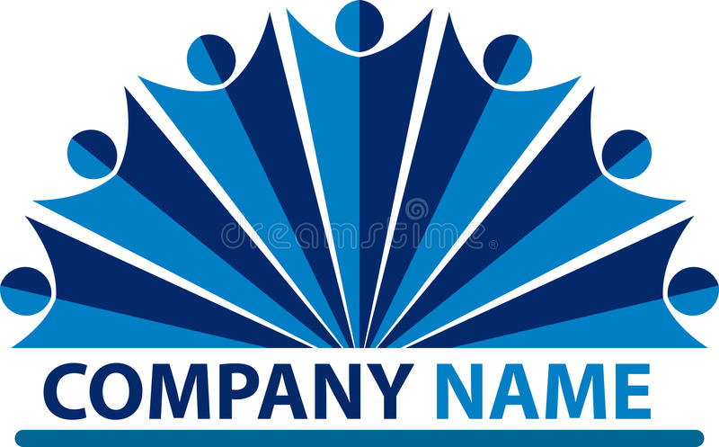 Logo de compagnie de gens illustration stock