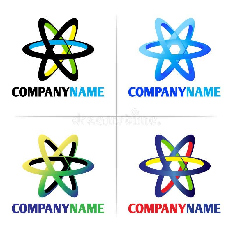 Logo de compagnie et élément de graphisme illustration stock