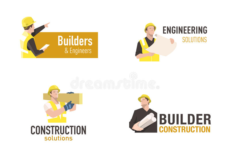 Logo de construction illustration libre de droits