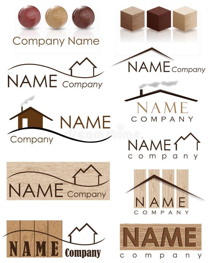 Logo de construction de Chambre illustration stock
