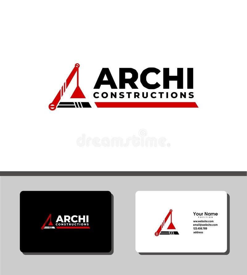 Logo de constructions d'Archi illustration stock