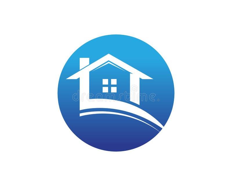 Logo de constructions individuelles et calibre d'icônes de symboles illustration stock