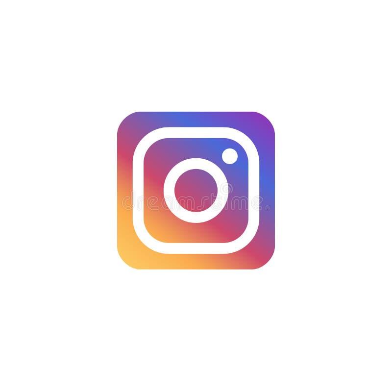 Logo de couleur de gradient de vecteur d'Instagram Icônes de vecteur d'Instagram colorez l'icône de pictogramme pour le web desig illustration libre de droits