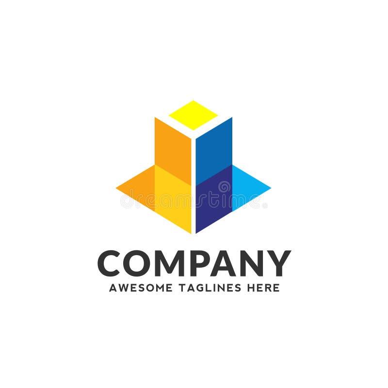 Logo de couleur de la construction 3d illustration libre de droits