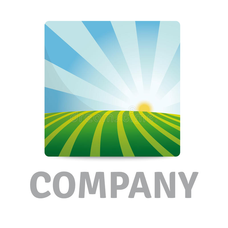Logo de Country Morning Sunrise Company illustration de vecteur