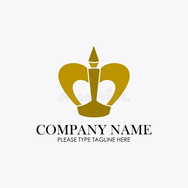 Logo de couronne pour la société de bijoux photos stock