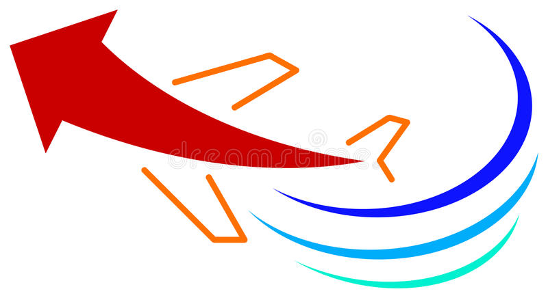 Logo de course illustration stock