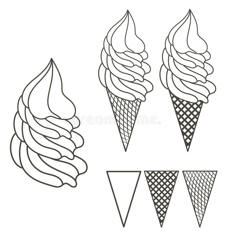 Logo de crème glacée  photo stock