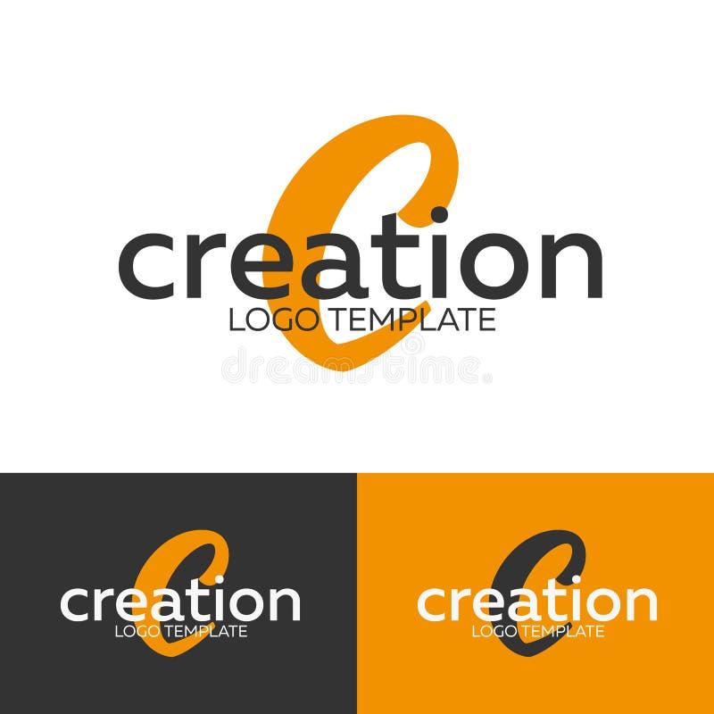 Logo de création Logo de la lettre C Calibre de logo de vecteur Concept de Logotype illustration libre de droits