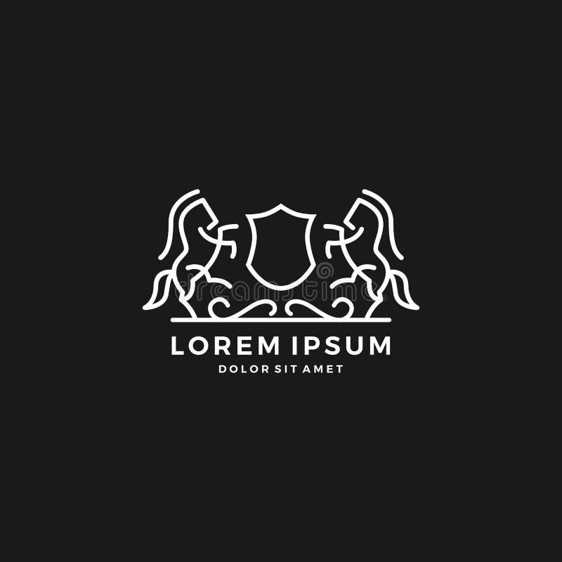 logo de crête de cheval images libres de droits