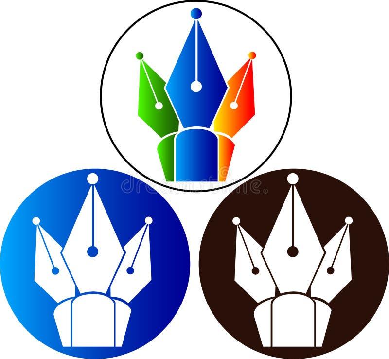 Logo de crayon lecteur illustration libre de droits