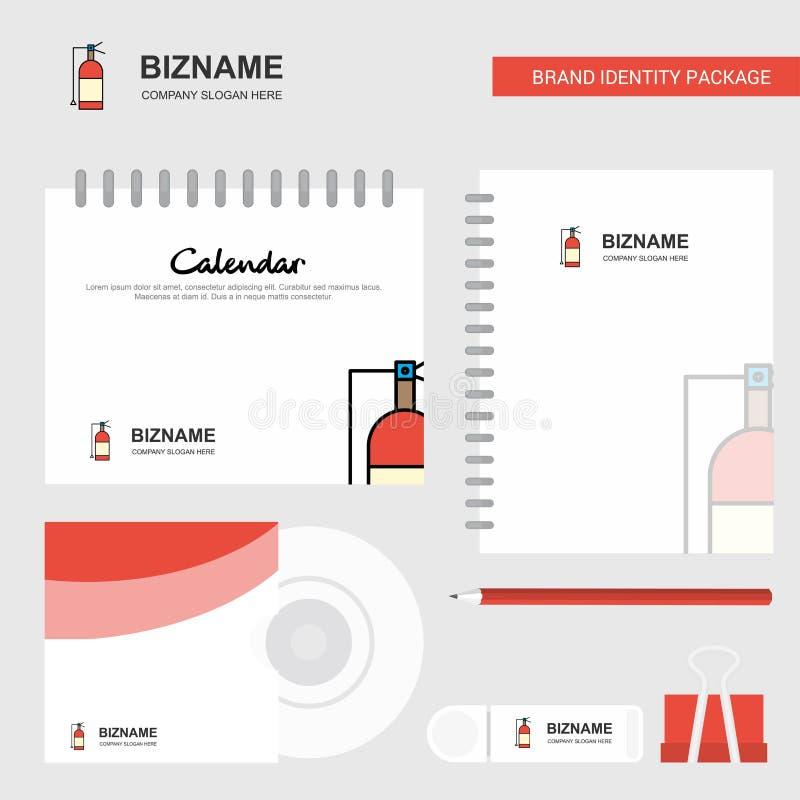 Logo de cylindre, calibre de calendrier, couverture de CD, journal intime et calibre stationnaire de vecteur de design d'emballag illustration libre de droits