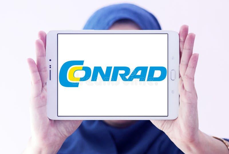 Logo de détaillant de l'électronique de Conrad images libres de droits