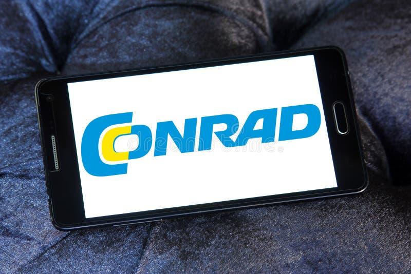 Logo de détaillant de l'électronique de Conrad photo stock
