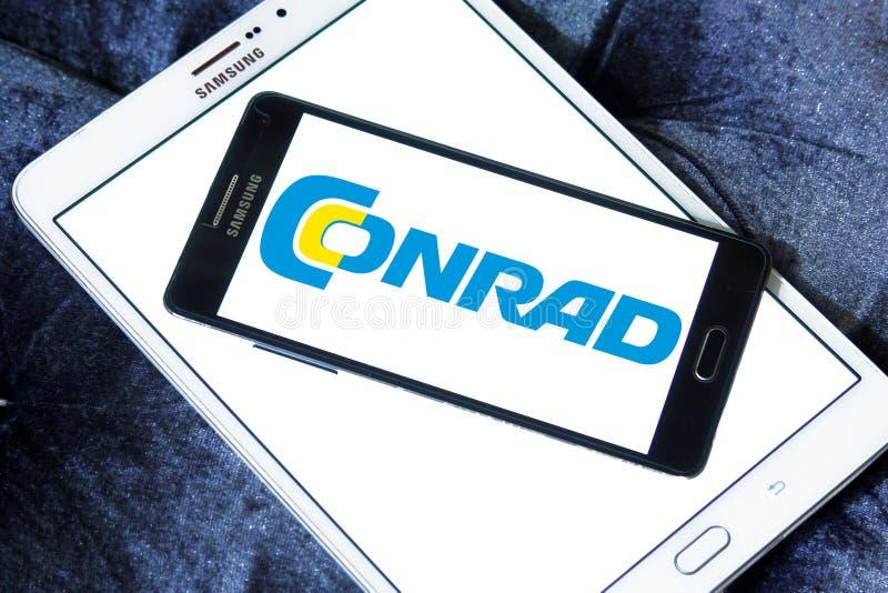 Logo de détaillant de l'électronique de Conrad photos stock