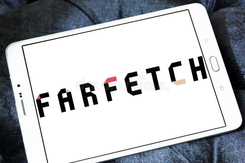 Logo de détaillant de mode de Farfetch image stock