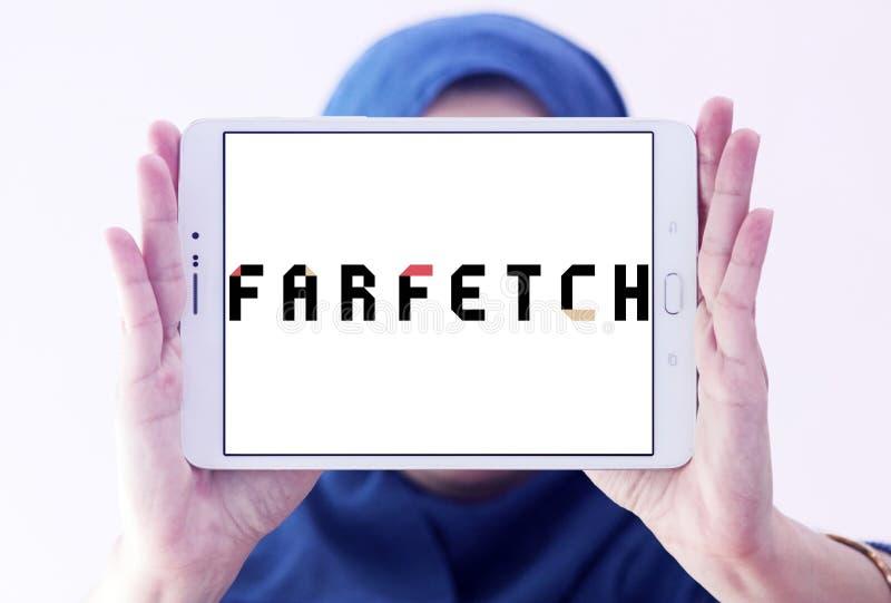 Logo de détaillant de mode de Farfetch photographie stock