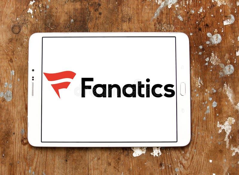 Logo de détaillant de sports de fanatiques images stock