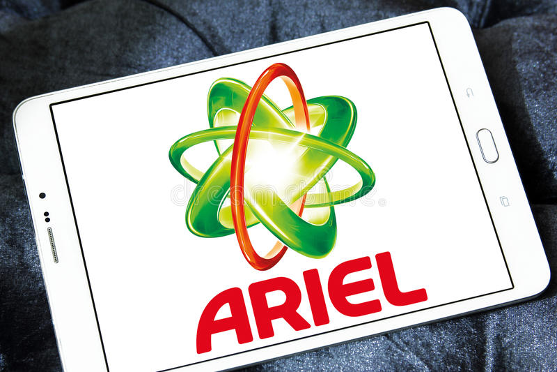 Logo de détergent de blanchisserie d'Ariel photos libres de droits