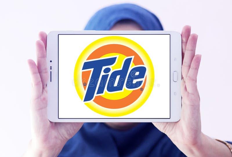 Logo de détergent de blanchisserie de marée images stock