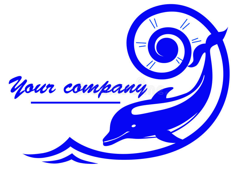 Logo de dauphin illustration libre de droits
