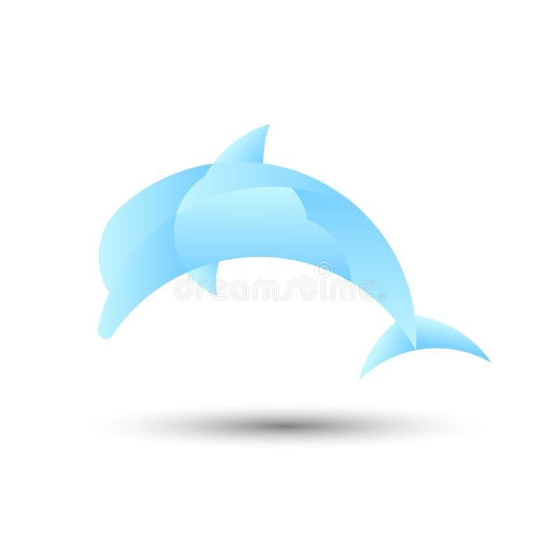 Logo de dauphin, illustration de vecteur illustration libre de droits