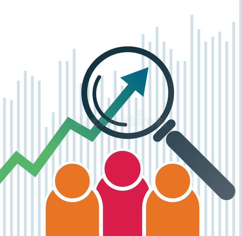 logo de diagramme de flèche de graphique de gestion illustration stock