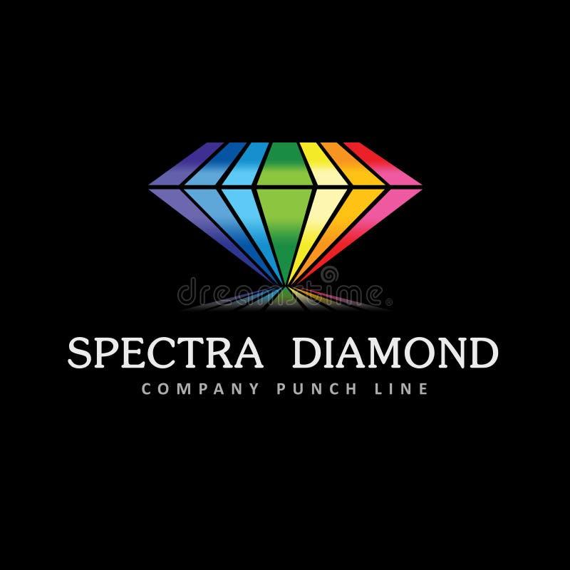 Logo de diamant de spectres illustration de vecteur