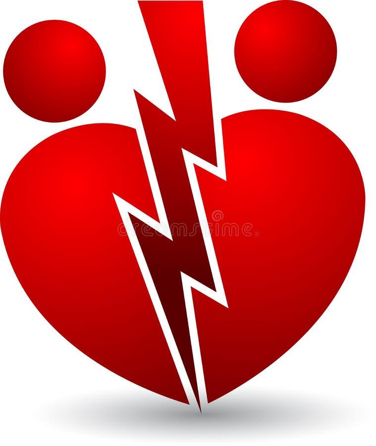 Logo de divorce illustration de vecteur