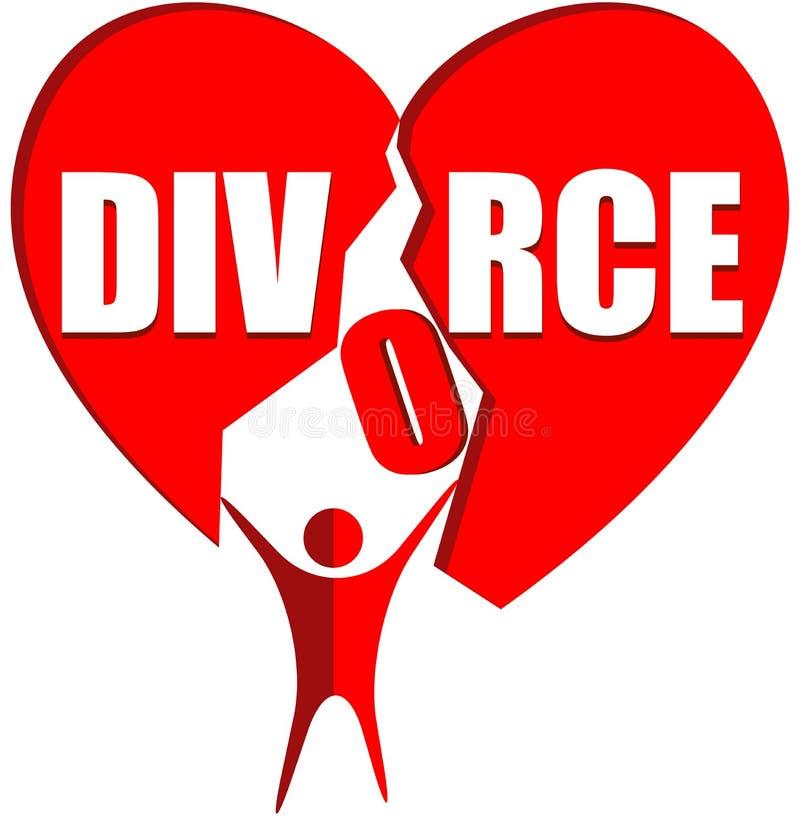 Logo de divorce illustration libre de droits