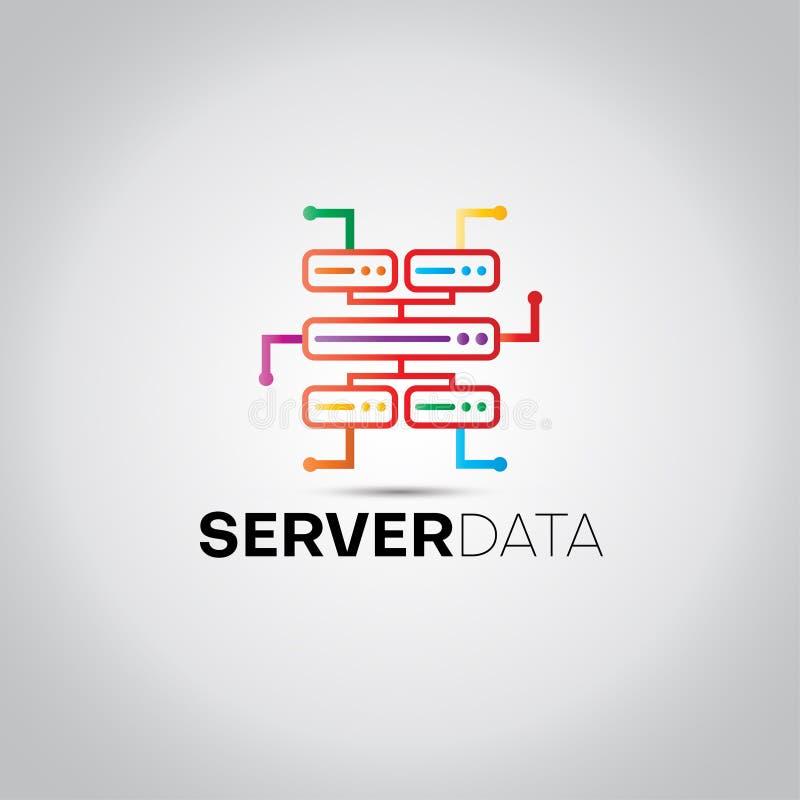 Logo de données numériques de serveur illustration de vecteur