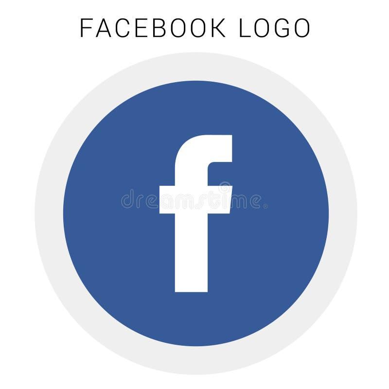 Logo de Facebook avec le dossier du vecteur AI arrondi coloré illustration libre de droits