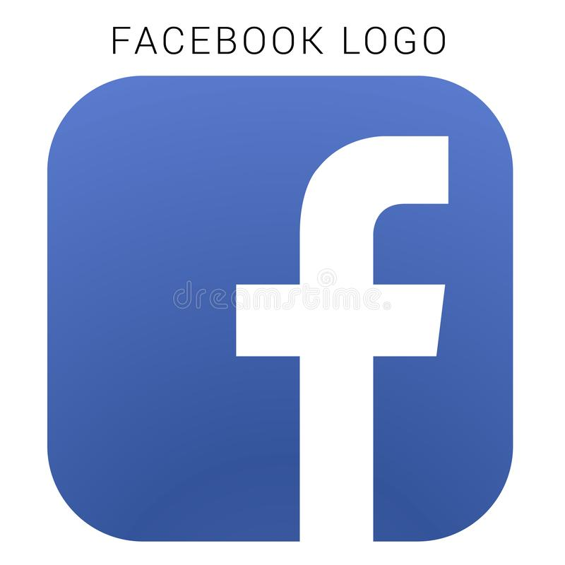 Logo de Facebook avec le dossier du vecteur AI Carré coloré illustration stock