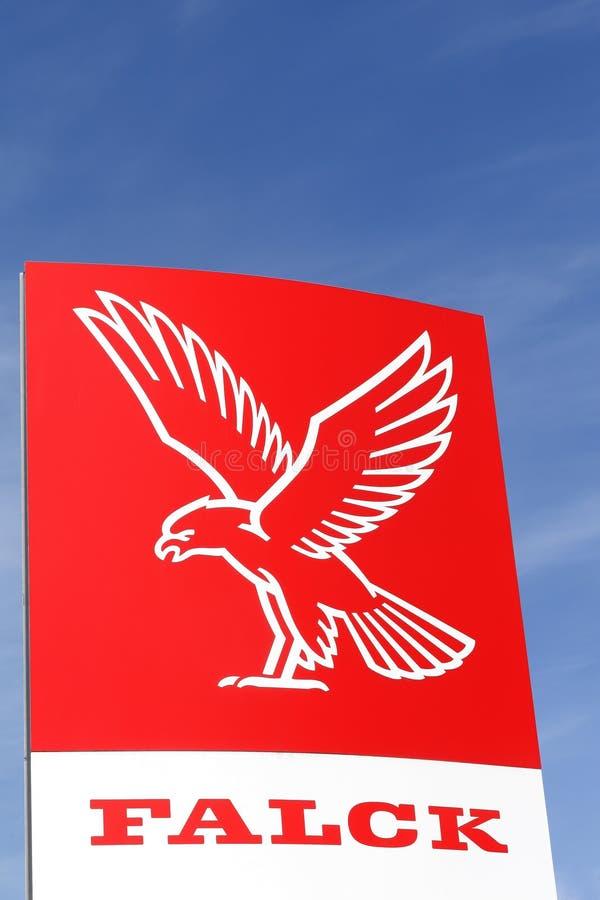 Logo de Falck sur un panneau image libre de droits
