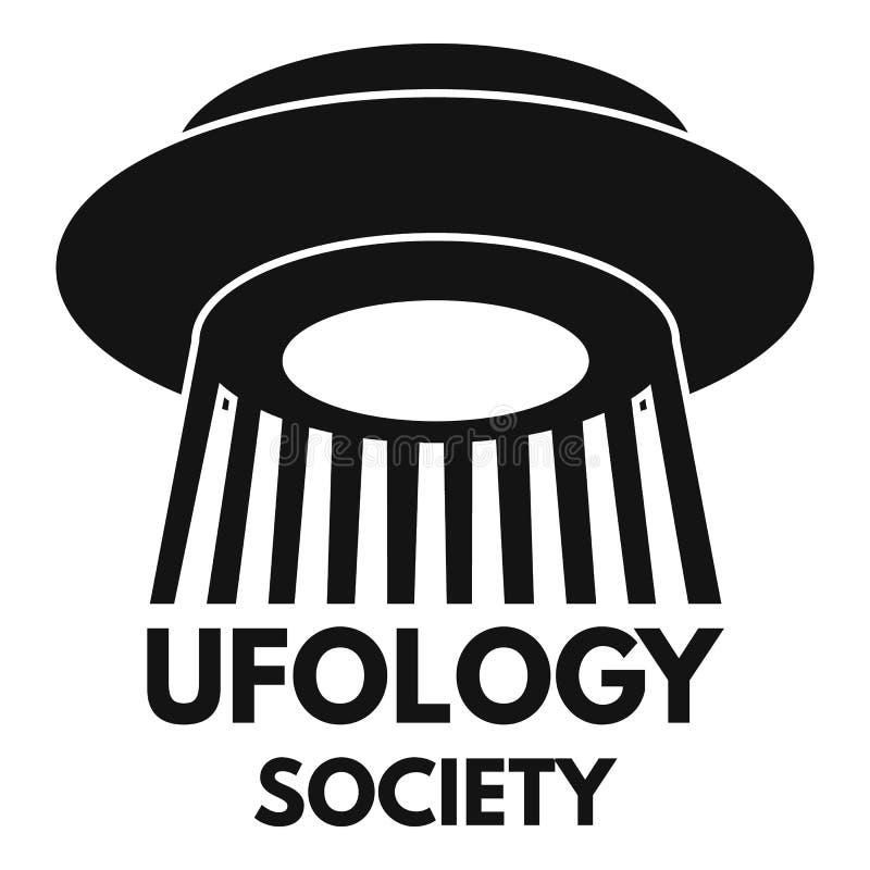 Logo de fan de société d'Ufology, style simple illustration libre de droits