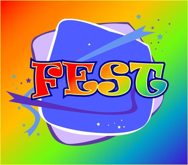 Logo de Fest illustration libre de droits