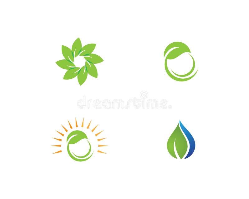 Logo de feuille d'arbre illustration libre de droits