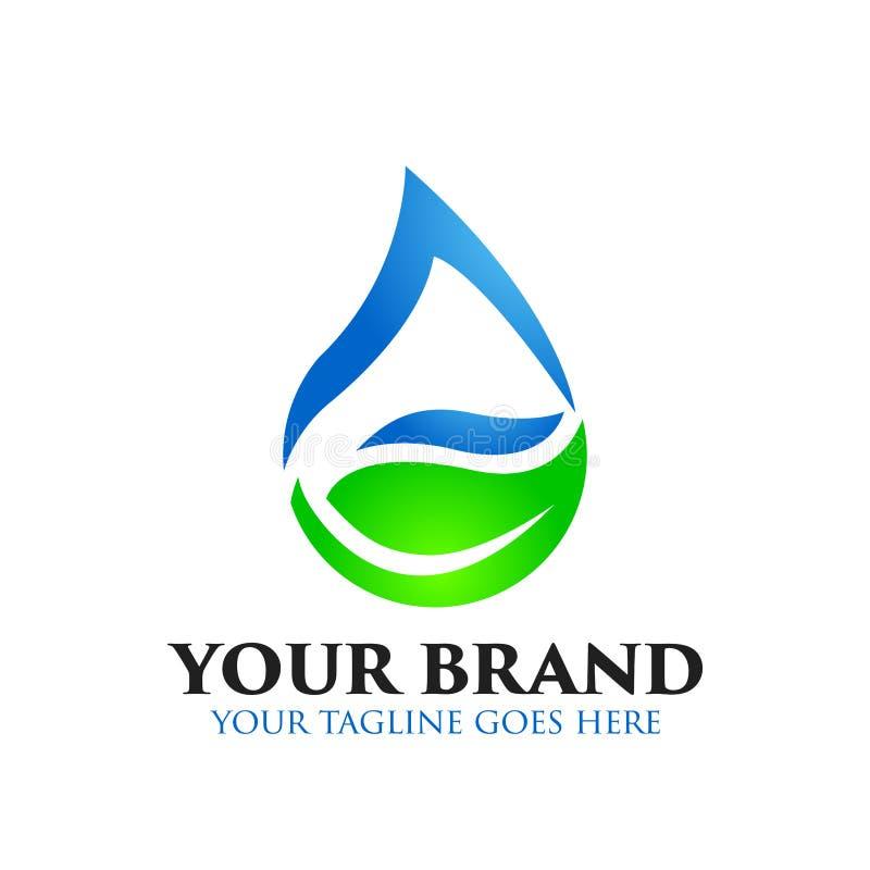 Logo de feuille, naturel, sain, et de baisse de l'eau - vecteur illustration de vecteur