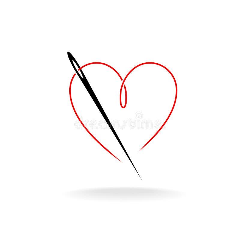 Logo de fil d'aiguille illustration libre de droits