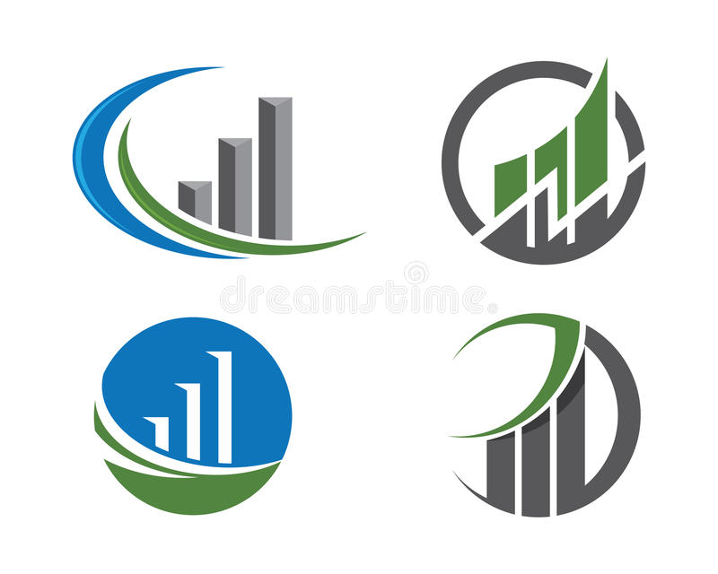 Logo de finances illustration stock