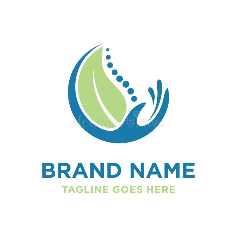Logo de fines herbes de santé d'os illustration de vecteur