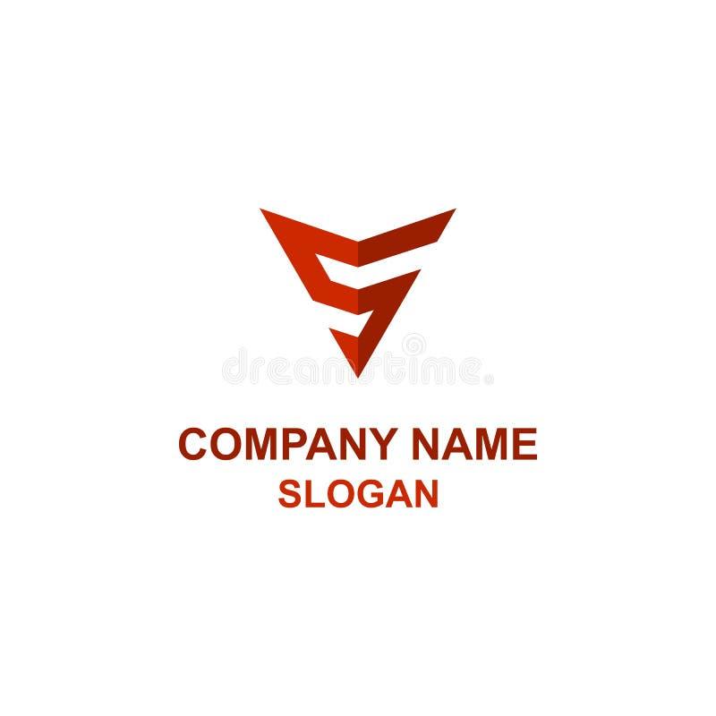 Logo de flèche d'initiale de lettre de S illustration libre de droits