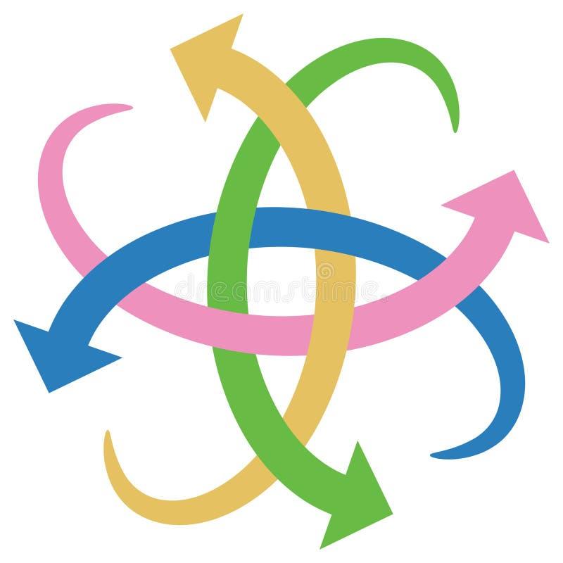 Logo de flèches illustration stock
