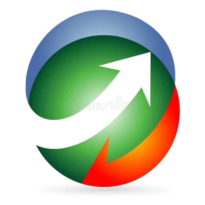 Logo de flèches illustration de vecteur