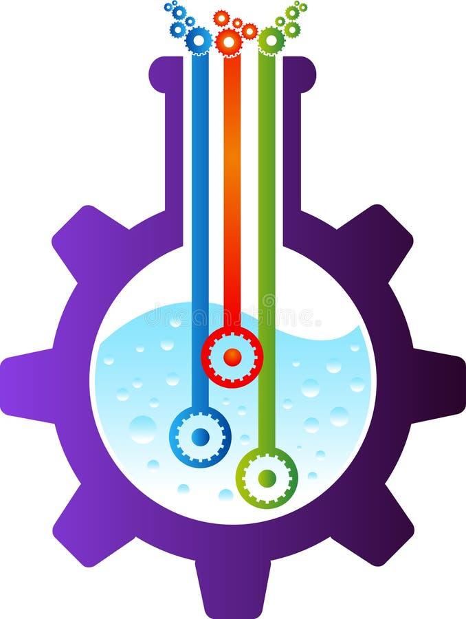 Logo de flacon d'usine illustration libre de droits