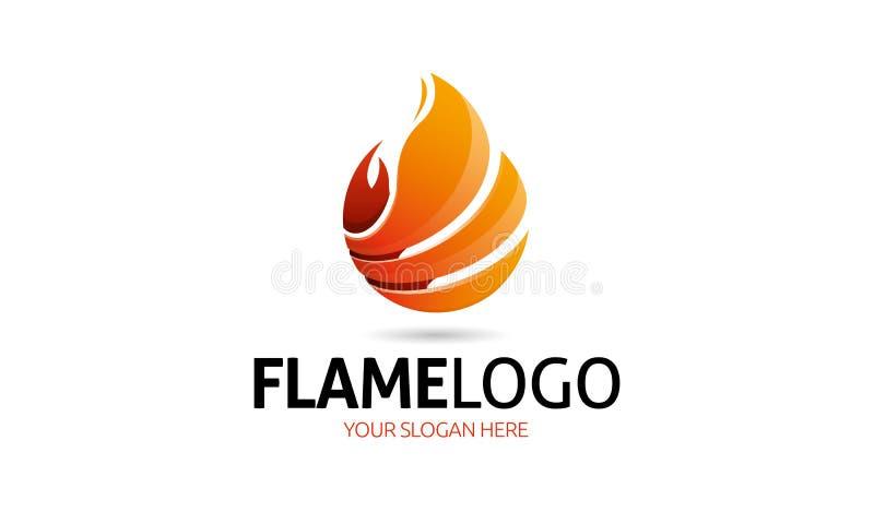 Logo de flamme illustration libre de droits