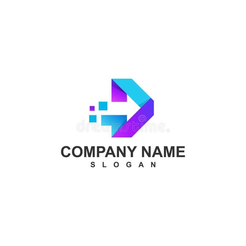 Logo de flecha fotografía de archivo