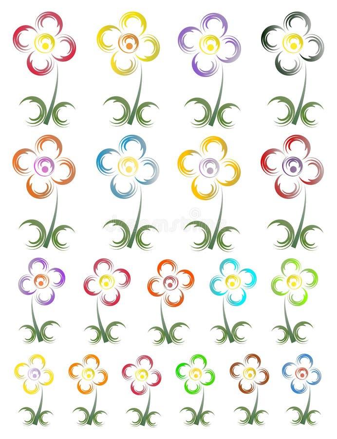 Logo de fleur illustration libre de droits
