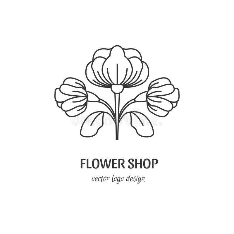 Logo de fleuriste illustration stock