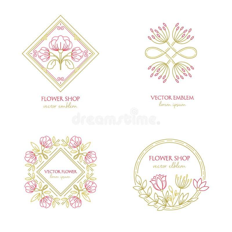 Logo de fleuriste illustration libre de droits